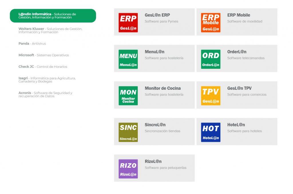 Distribuidor Plus L@ndín Software